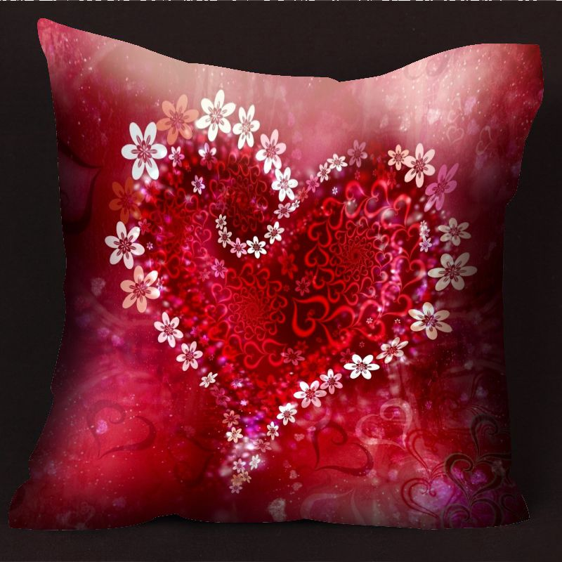 разрывов фотопечать на подушках в виде сердца время мужчина