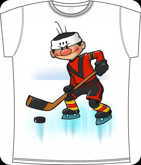 Картинки хоккеист мультяшные