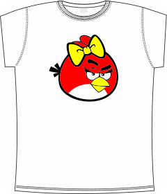 girl, Angry Bird's,game, t-shirts