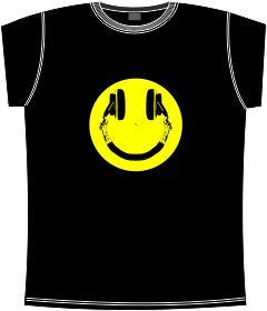 smile, headphones, music, t-shirts